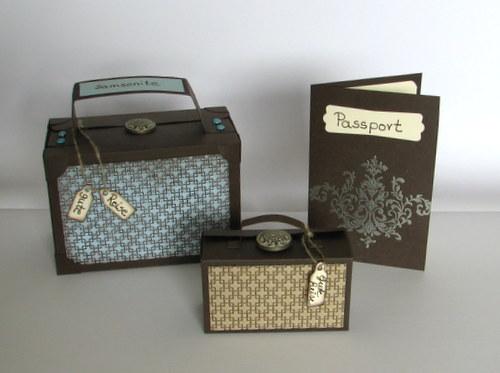 ... und Basteln: kleiner Koffer als Abschiedsgeschenk selber basteln