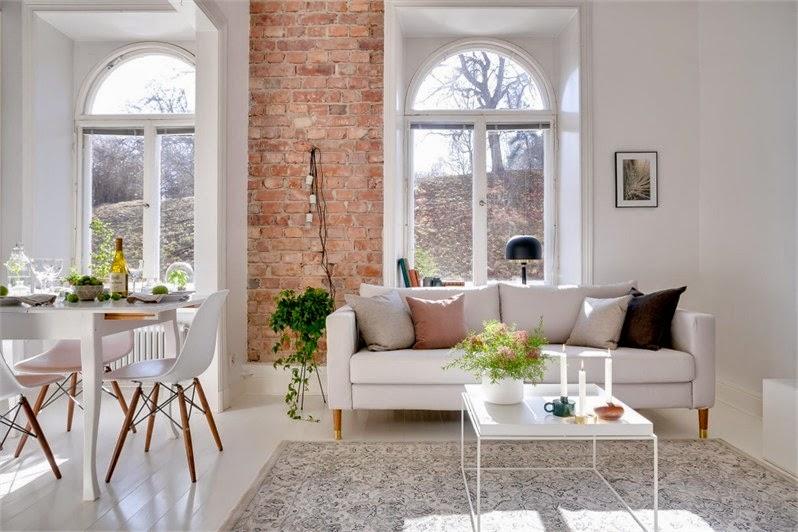 Marion decore le mur en brique le d tail parfait - Mur de brique dans un salon ...