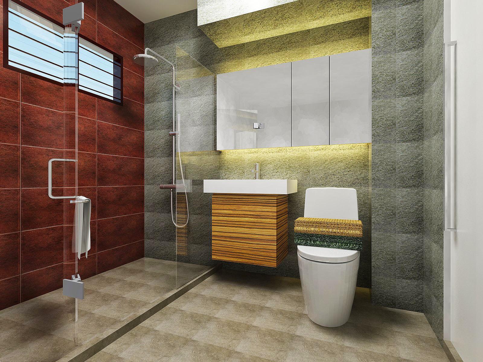 Hdb kitchen and bathroom design freelance interior for Bathroom design simulator