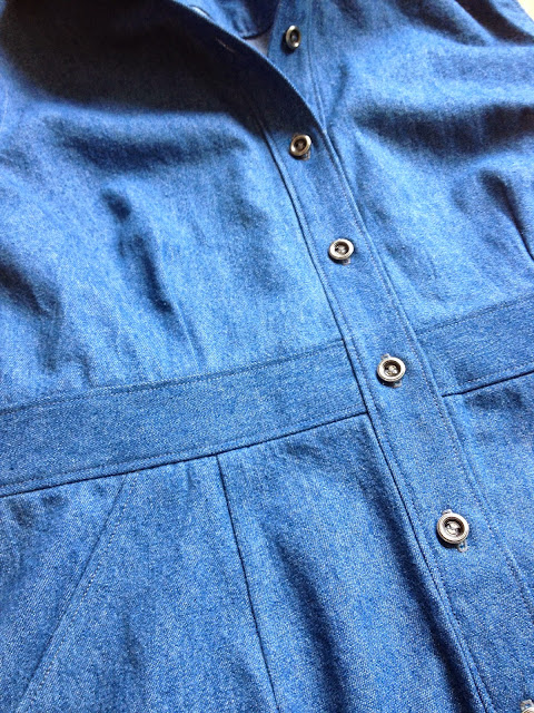 Diary of a Chain Stitcher: Denim McCalls 6696 Shirtdress