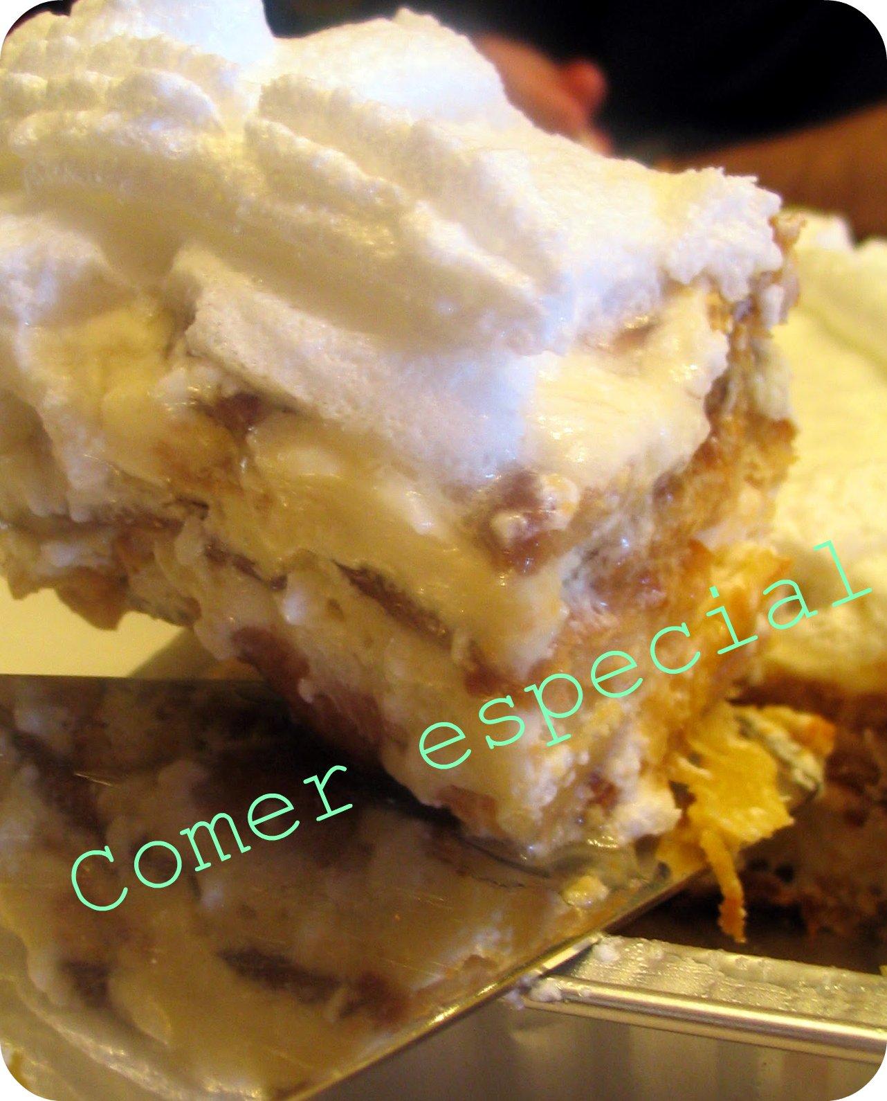 Tarta De Galletas Y Piña Sin Lactosa