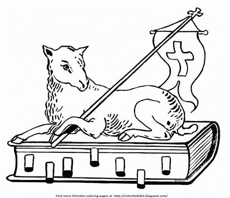christian coloring pages lamb - photo#19