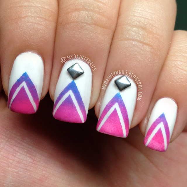 16 Super Cool Ombre Gradient Nail Art Tutorials: My Dainty Nails: I'm A Guest Blogger