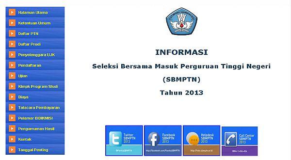 Cara Pengisian Form Pendaftaran SBMPTN 2013 Kelompok Ujian Saintek :