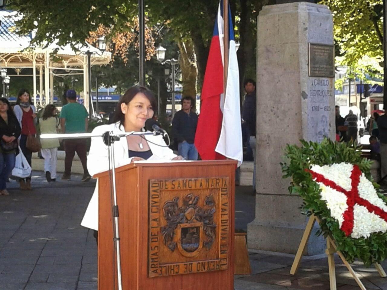 Discurso Leyla Luque, presidenta Consejo Regional Los Ríos durante conmemoración Día de la Prensa