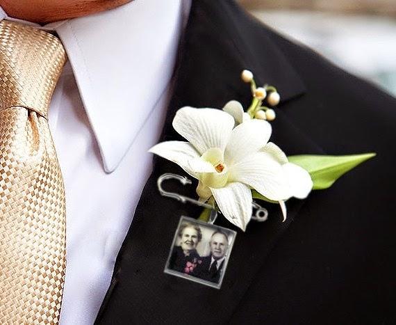 ramos de novia originales con fotografias boutonniere camafeos broches blog bodas