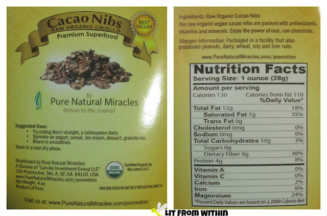 Pure Natural Miracles Cacao Nibs