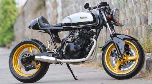 Modifikasi Suzuki Thunder 250 Cafe Racer