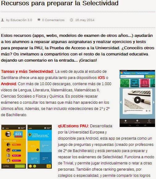 http://www.educaciontrespuntocero.com/recursos/recursos-para-preparar-la-selectividad/17797.html