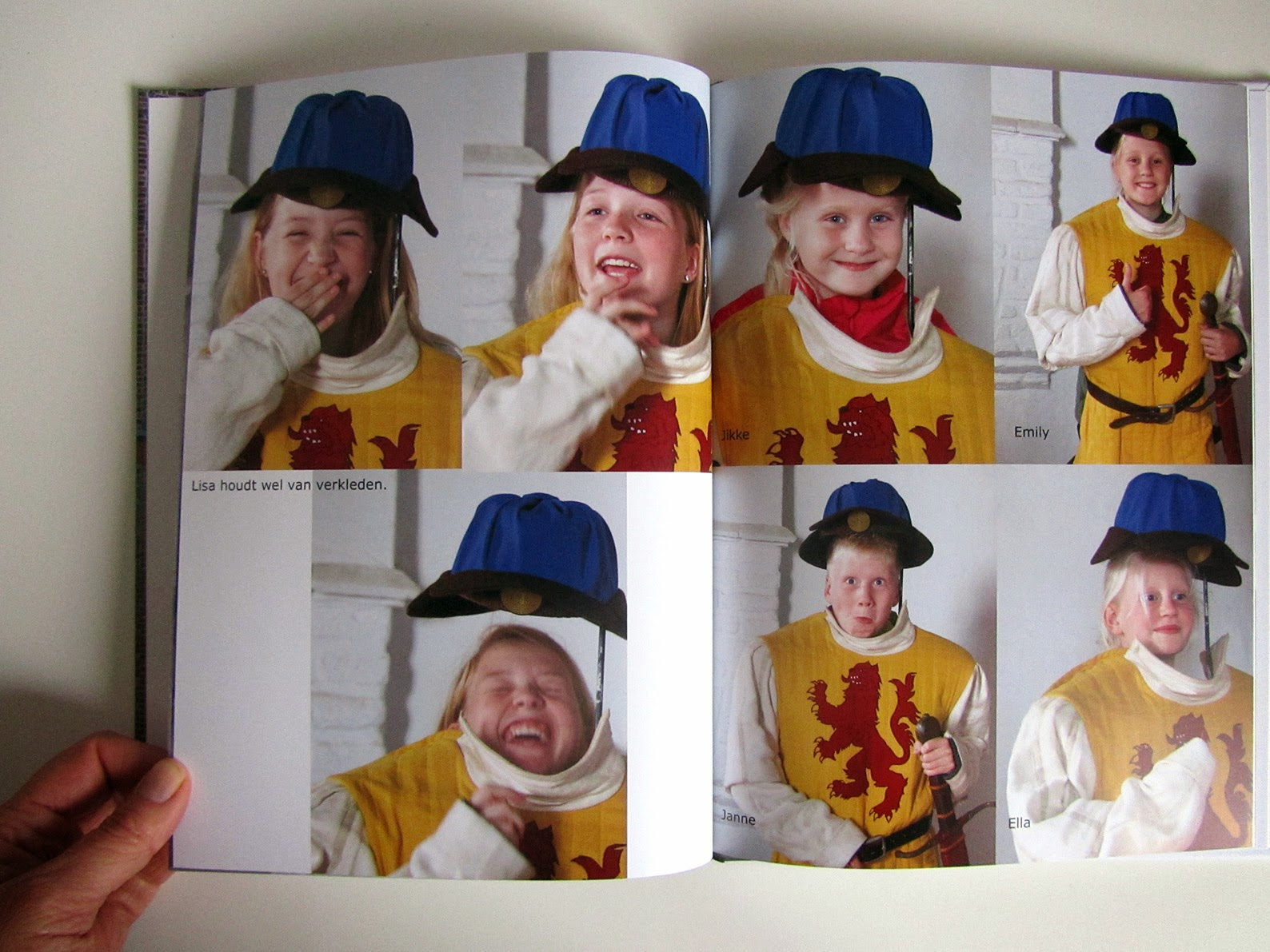inside photo book: dressing up