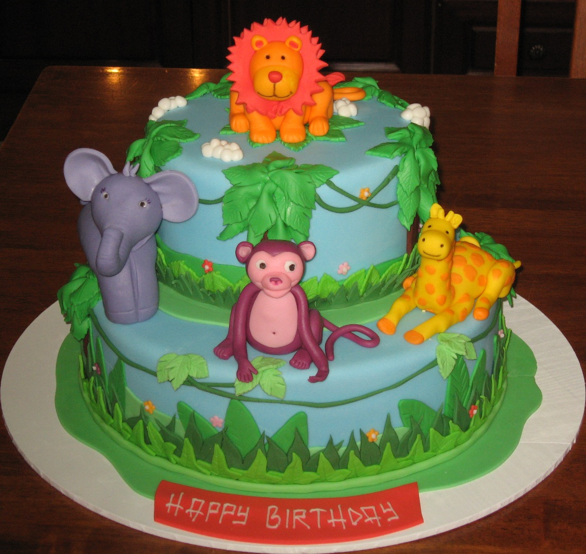 Let Them Eat Cake: Jungle Animal themed cake