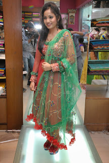 Actress Madhavi Latha Pictures in Salwar Kameez at Sreeja Fashions South Silk Festival 2013 Launch 0005.jpg