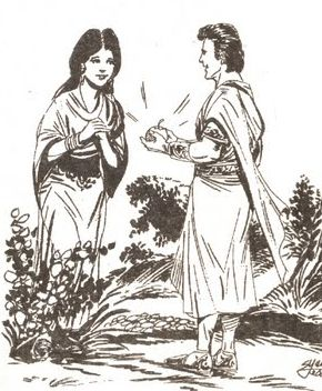 Nabi Adam as dan Siti Hawa  Nabi Adam Dan Hawa Bertemu