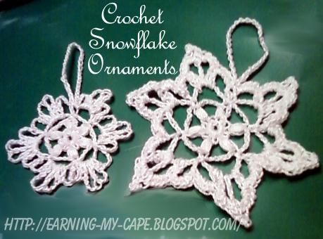 Earning My Cape Snowflake Ornament Free Crochet Pattern