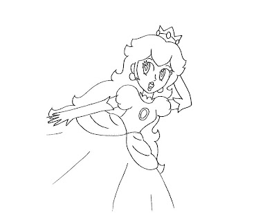 #18 Princess Peach Coloring Page