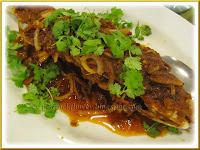 Pan Fried Silver Pomfret Fish with sambal sauce