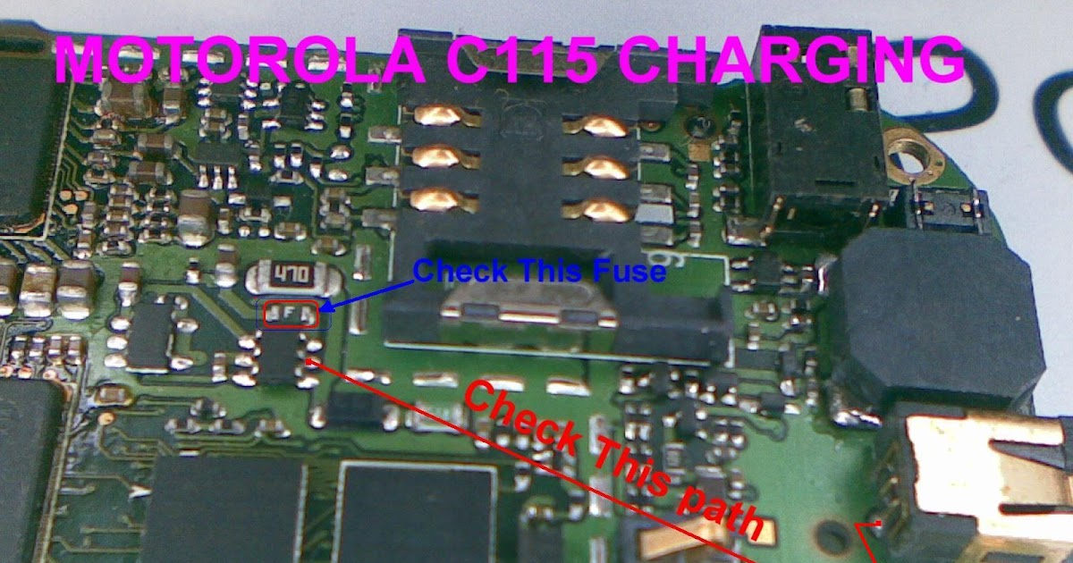 Mobile Diagram With Repairing Hardware  C115 Charging
