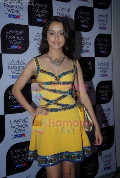 shraddha kapoor at lakme fashion week