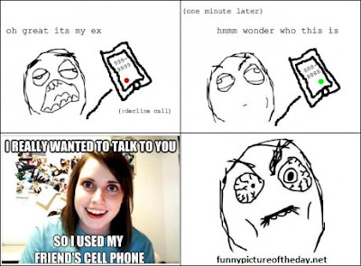 Overly Attached Ex Girlfriend Calling Funny Meme Comic