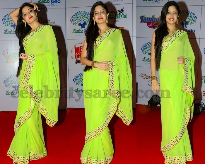 Vimala Raman Green Saree