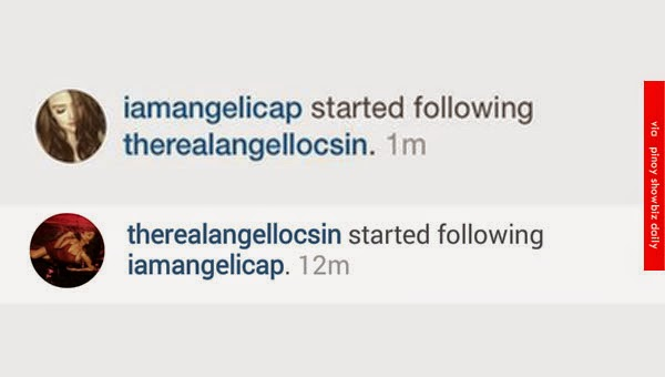 Angel Locsin and Angelica Panganiban started following each other on Instagram