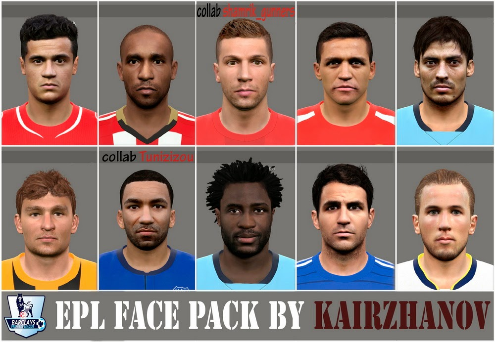 PES 2015 EPL Face Pack Vol.3 by Kairzhanov