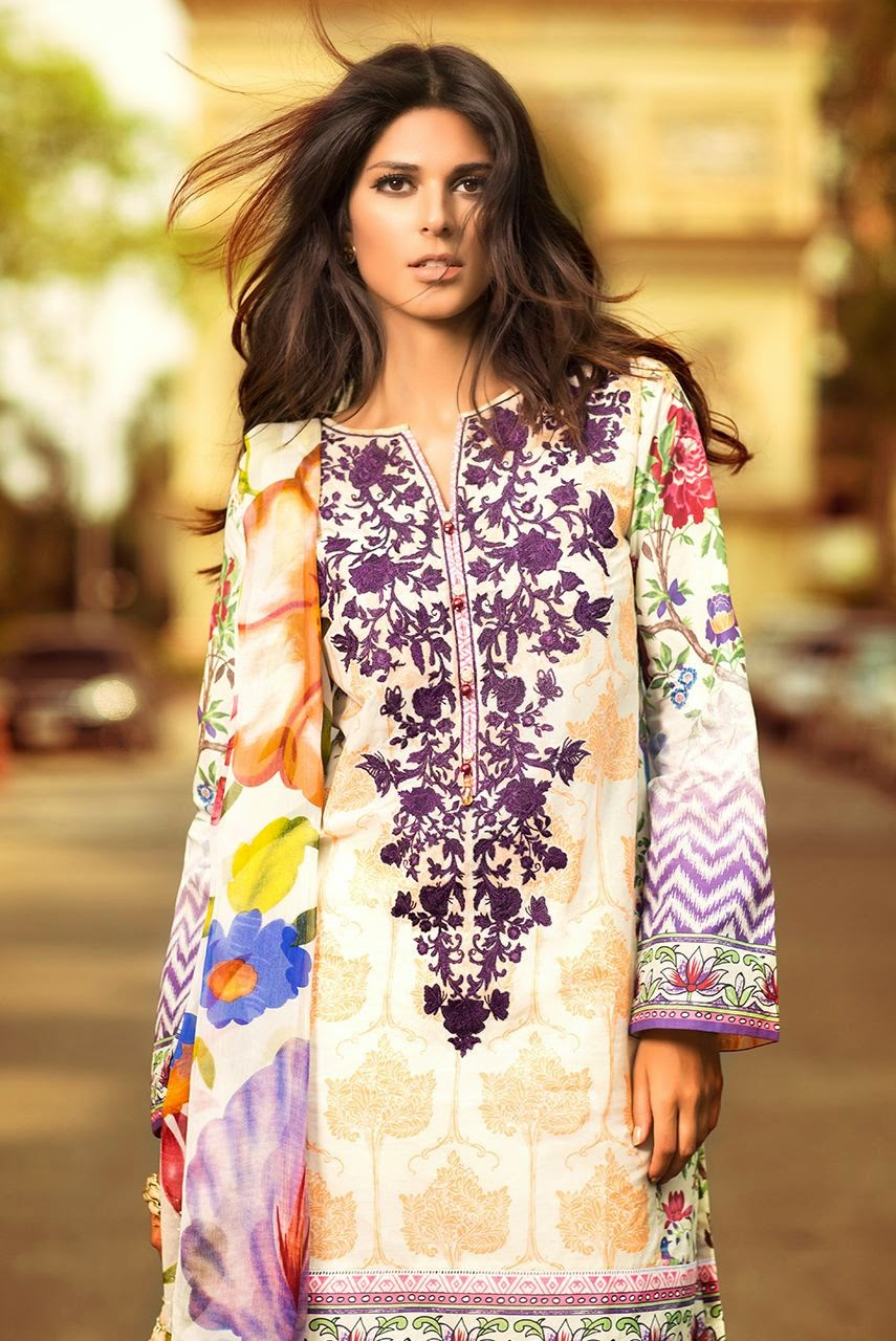 Summer collection 2015 pakistani dresses