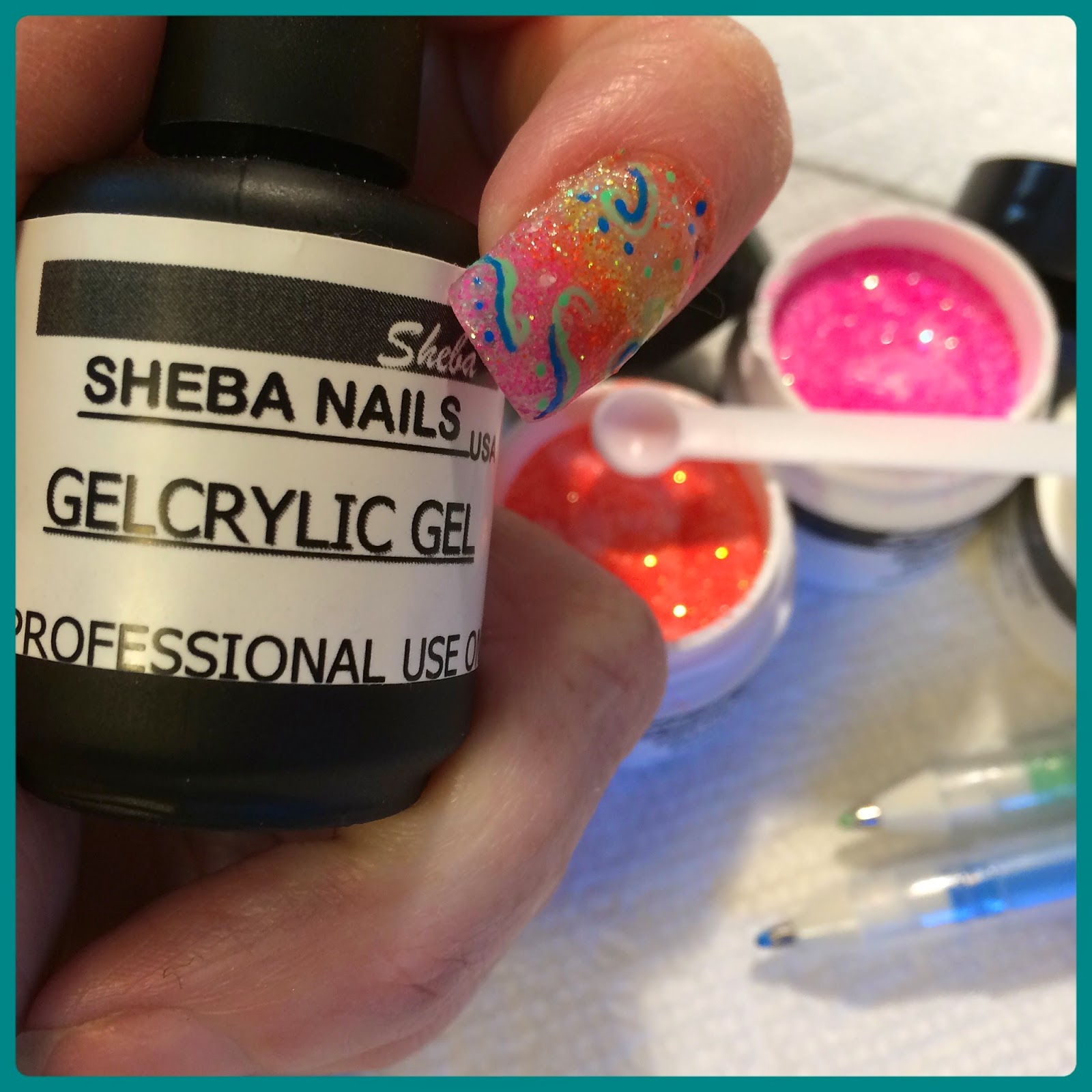 Gelcrylic Hot Neon Acrylic Powders