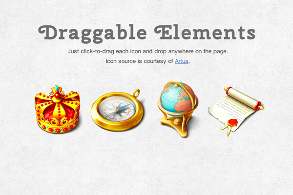 Making Draggable Webpage Elements using jQuery