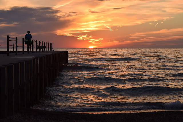 Rogers Park, sunrise, Chicago, Lake Michigan