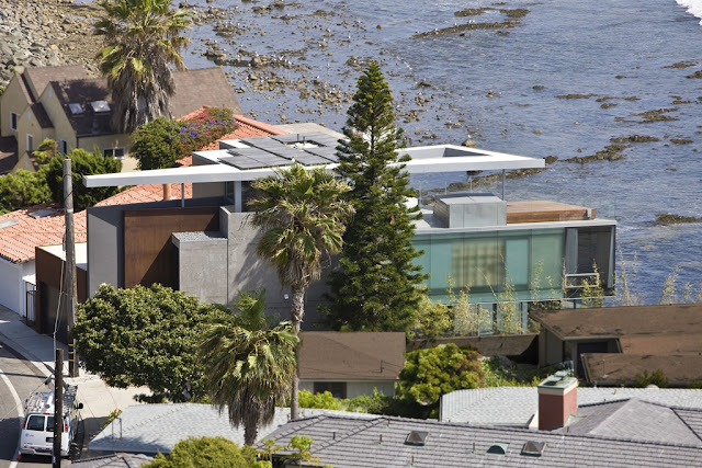 Picture of Lemperle Residence among the other homes as seen from the air