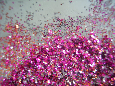 bastel glitzer pink