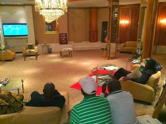 Nigeria President and Nigerians watch win bosnia