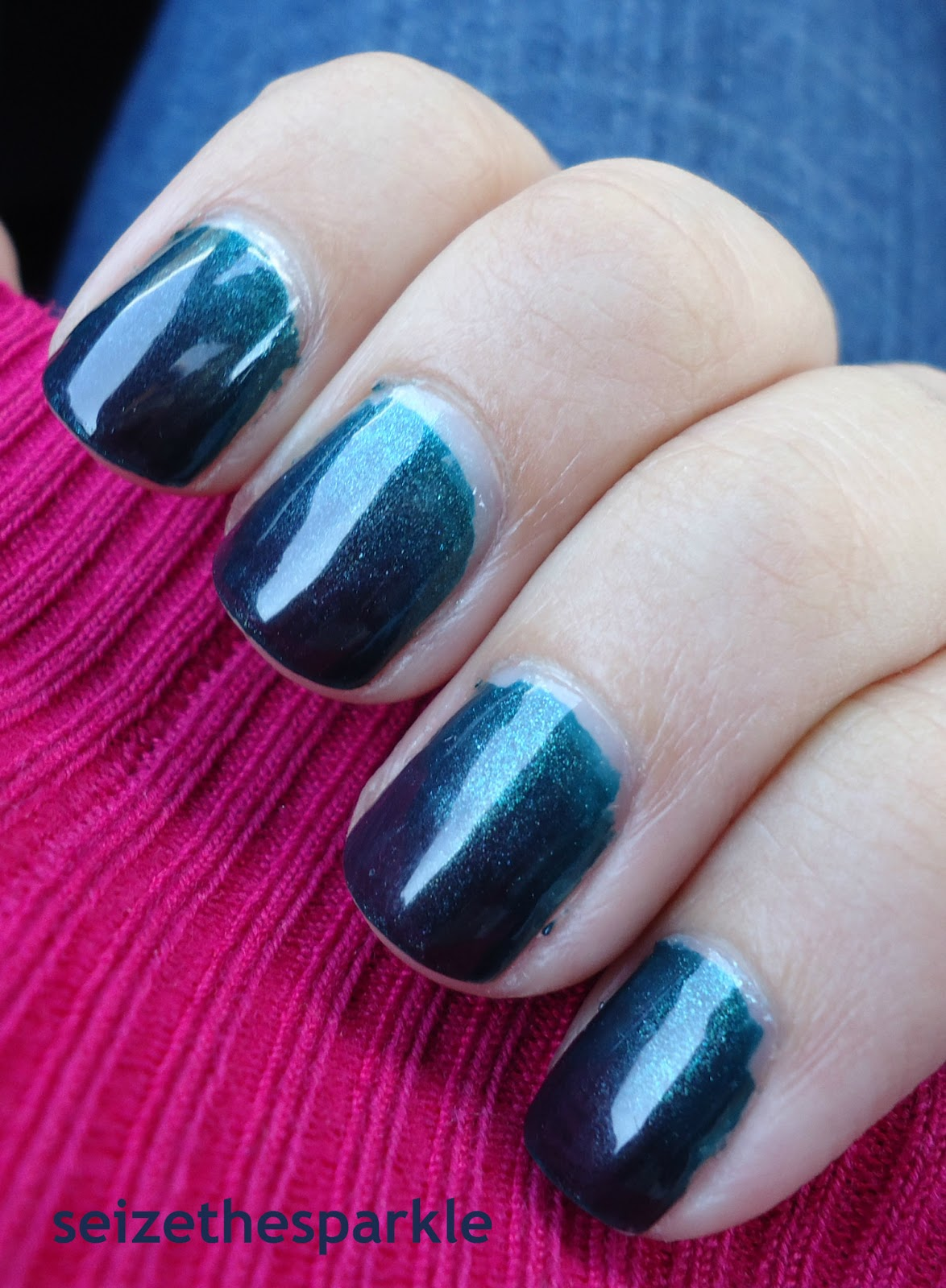 Teal Gradient Manicure