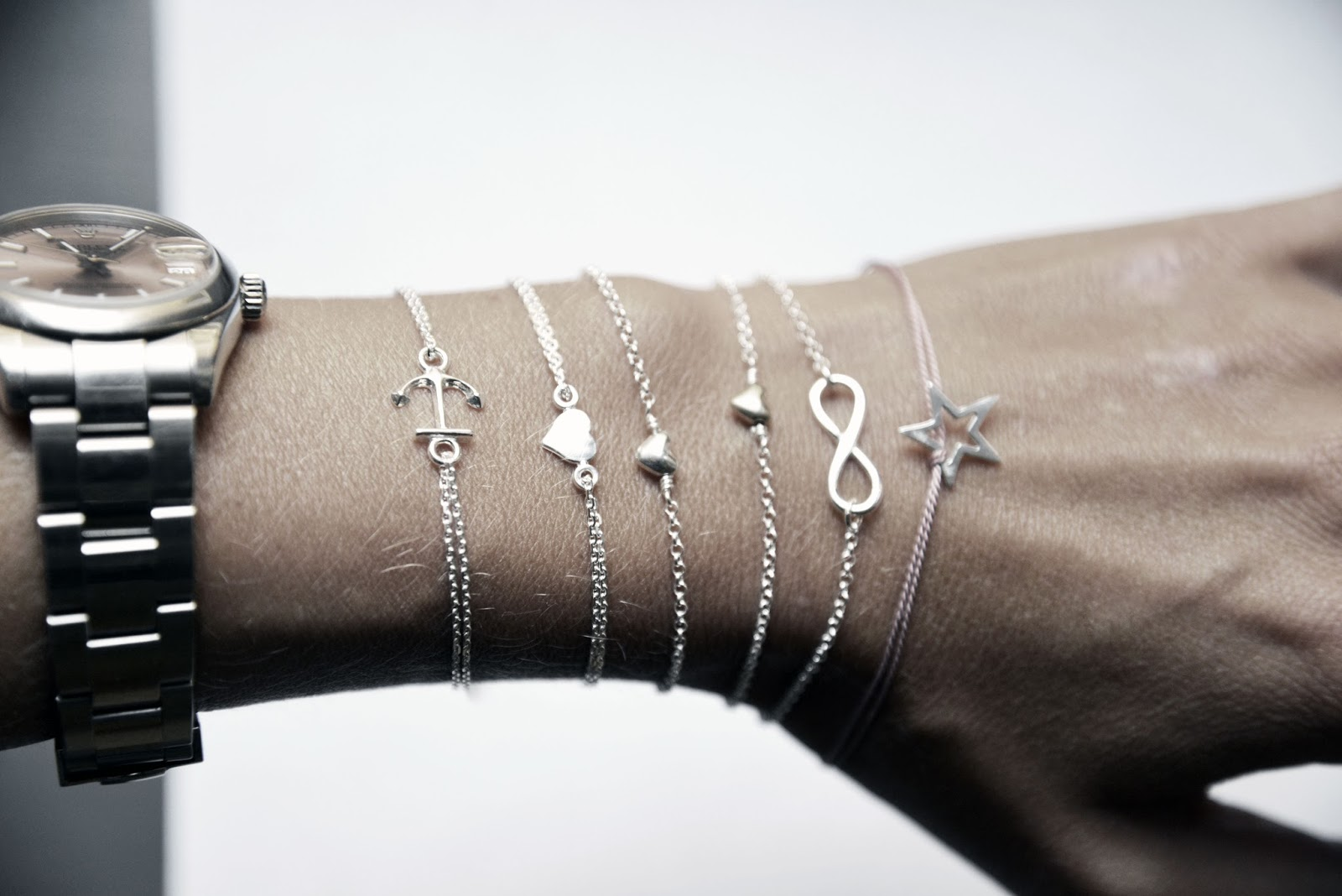 Eternity armband silver