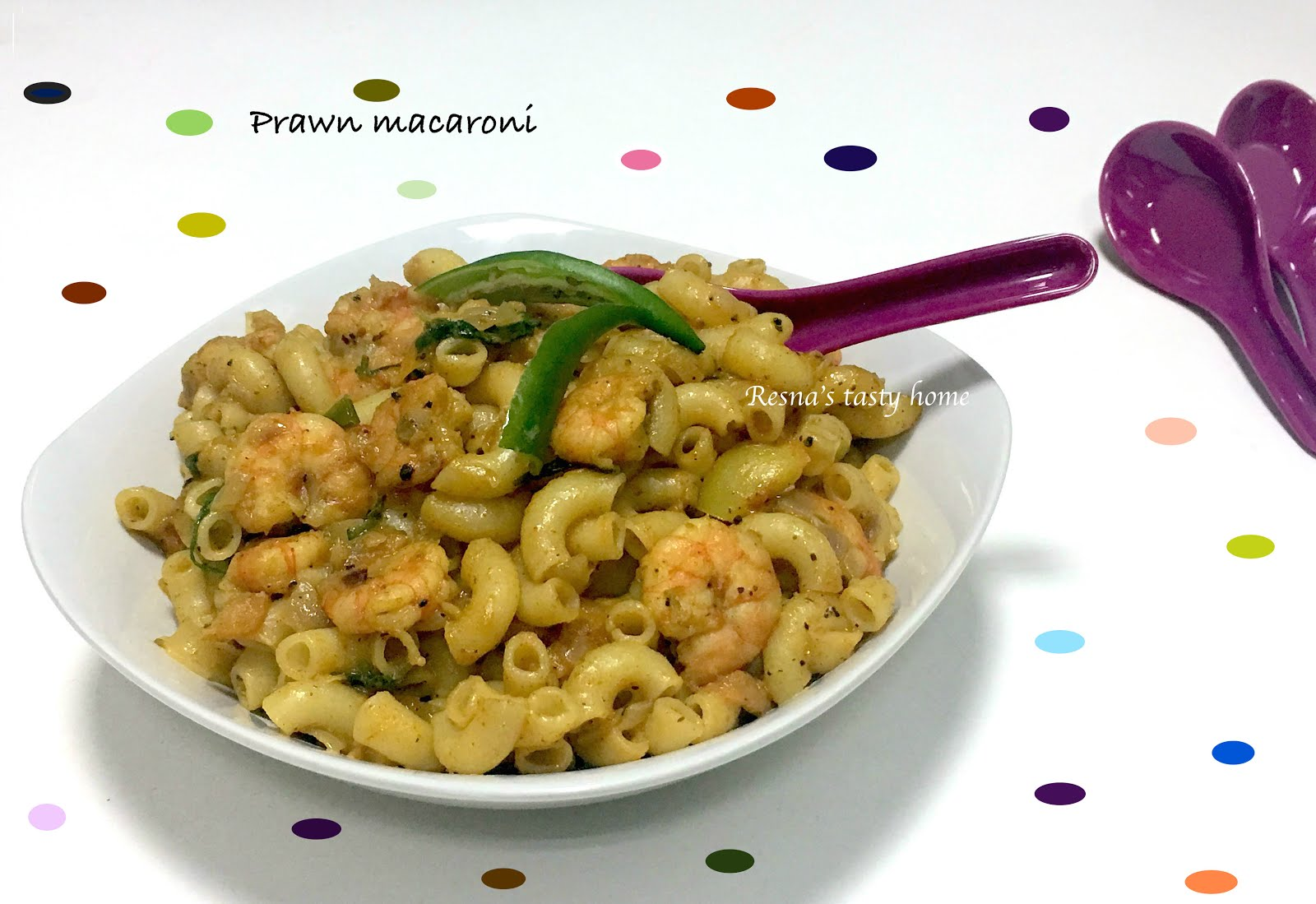 Macaroni with shrimps is tasty and useful