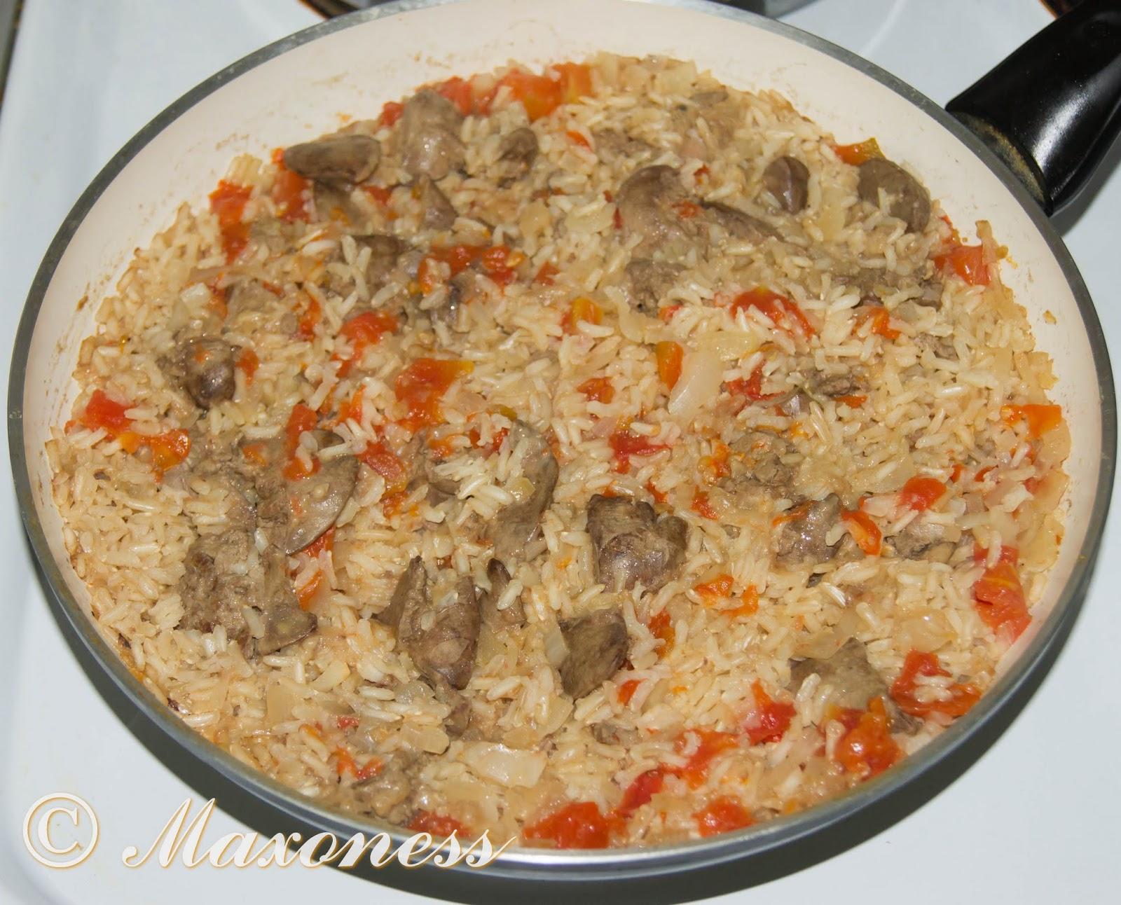 Как сделать рис с печенью 676