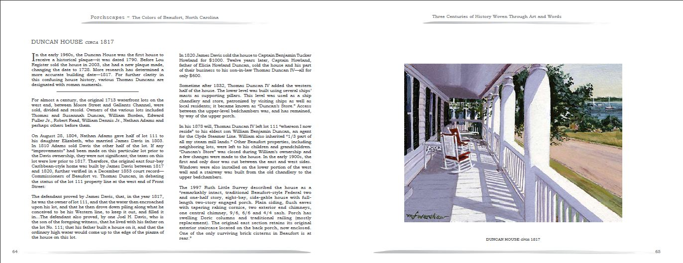 Porchscapes - The Colors of Beaufort - Three Centuries of History Woven Through Art and Words Pg 1
