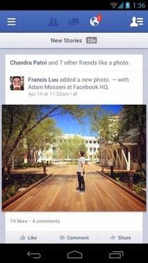 Facebook android apk - Screenshoot