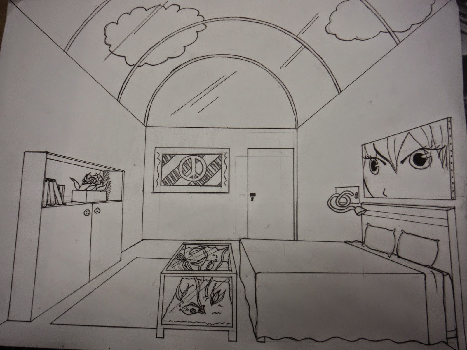 Awesome dessiner une chambre en perspective photos for Chambre en perspective