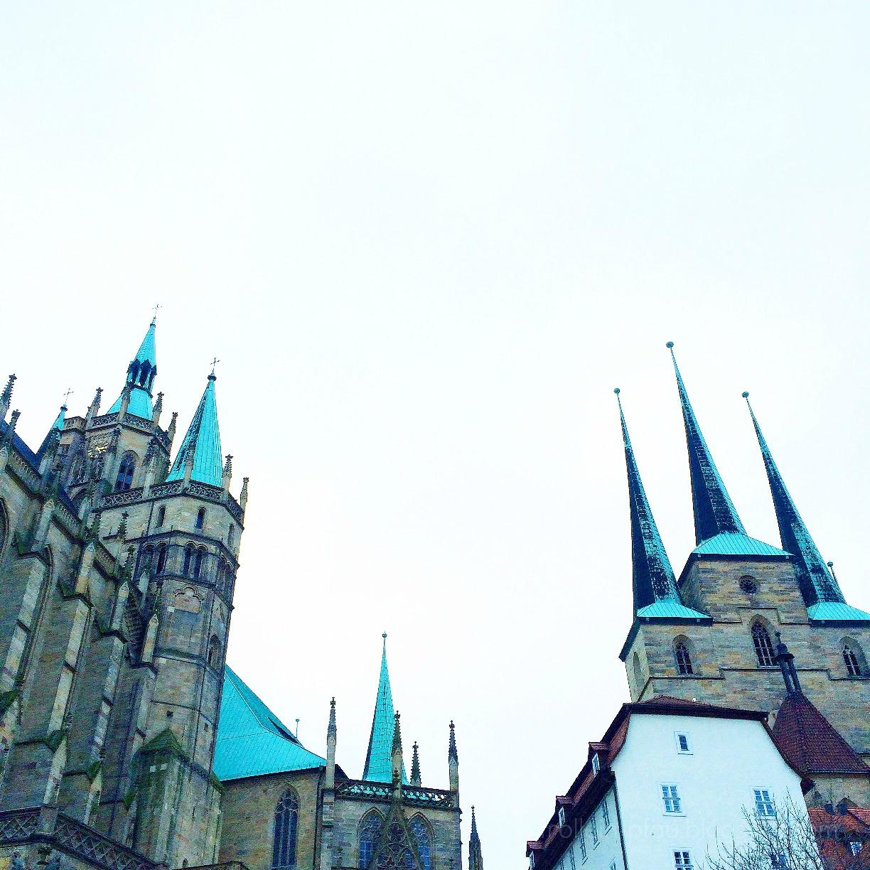 Erfurt, Thüringen, Erfurter Dom, Dom, Domplatz