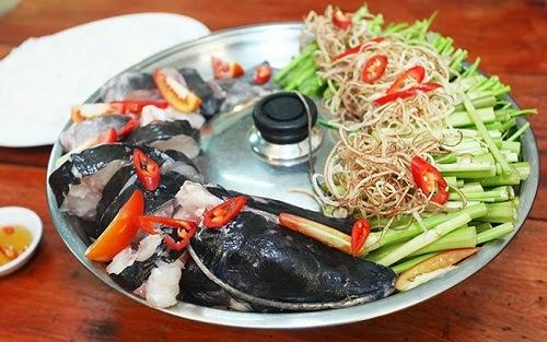 Asian Red Tailed Catfish Hotpot in Serepok River (Lẩu Cá Lăng ở Serepok)4