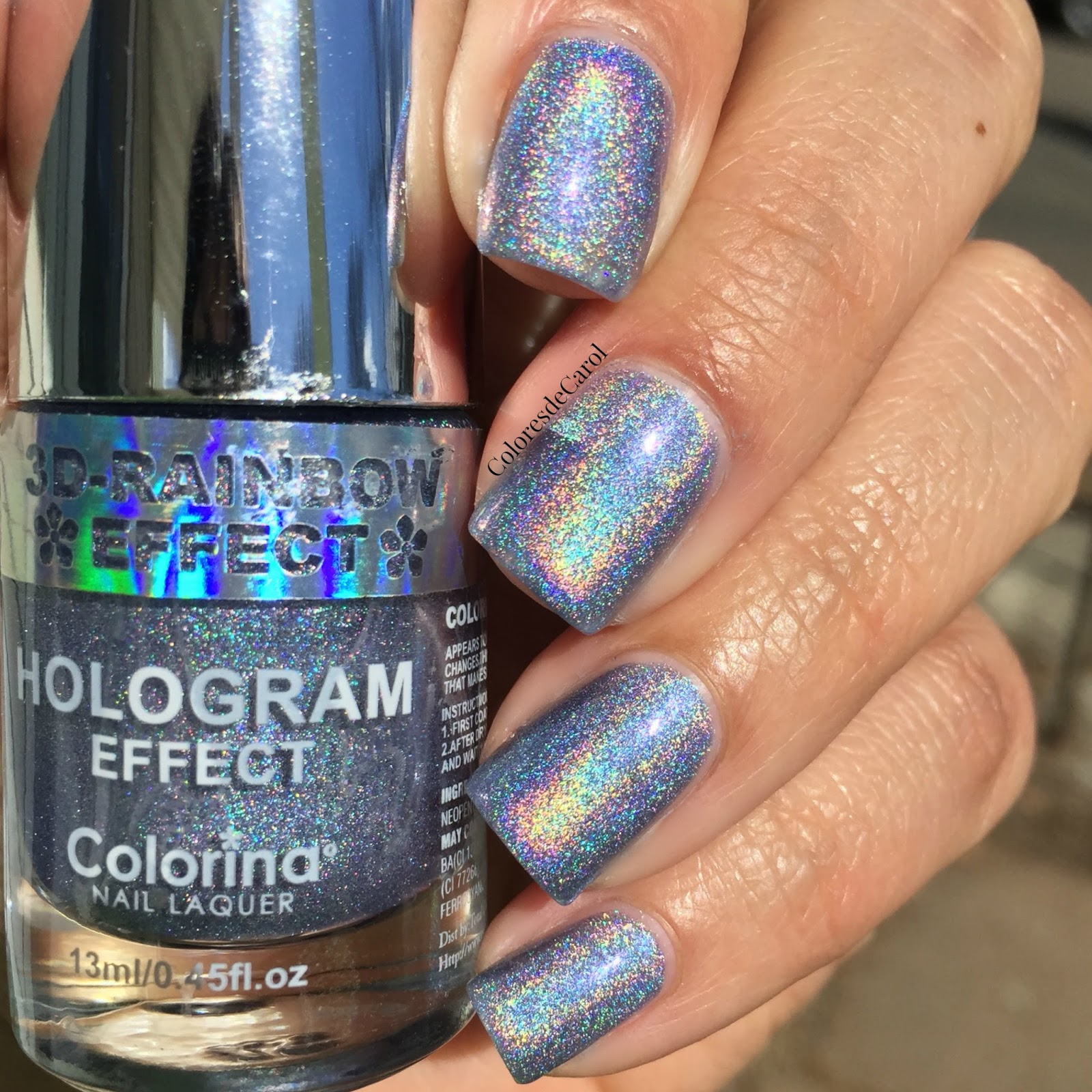 Colorina Rainbow Effect Hologram Nail Polshes Swatches And Review