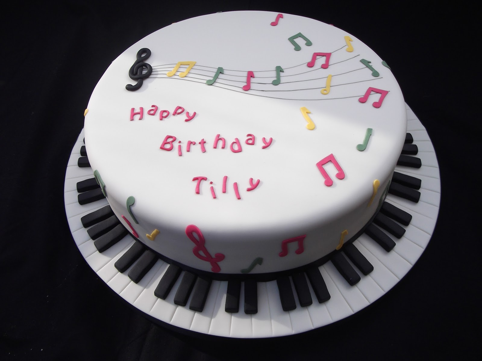Birthday Cake Ideas Music : Cakes By Karen: Music Themed Birthday Cake