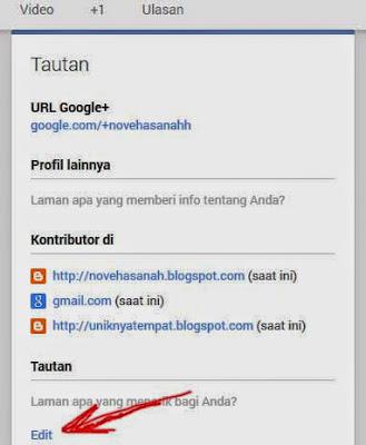 mengedit tautan google+