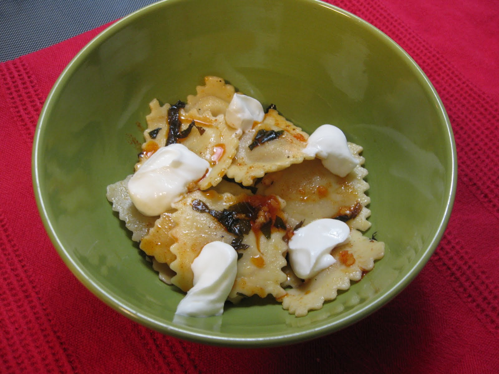 ... in the Kitchen: Ravioli with Yogurt, Mint, and Smoked Paprika Oil