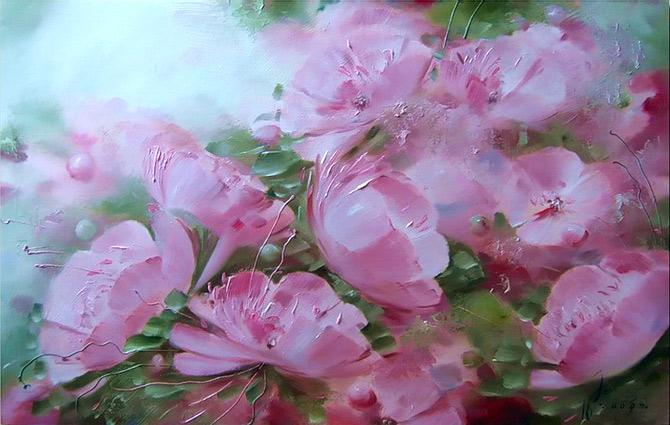 Коллекция картинок: Цветы Олега Буйко Фон Для Открытки Винтаж