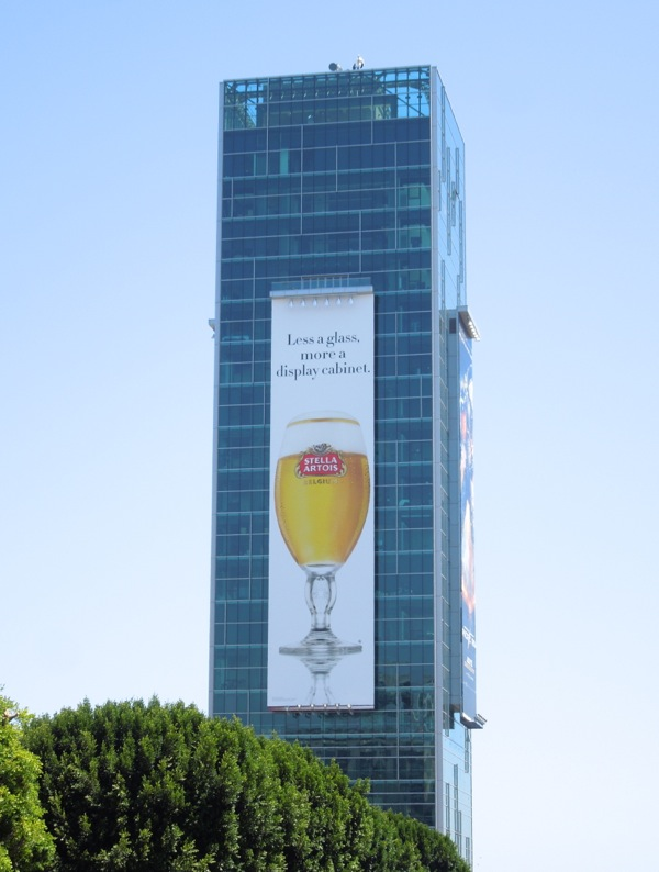 Stella Artois beer billboard Hollywood