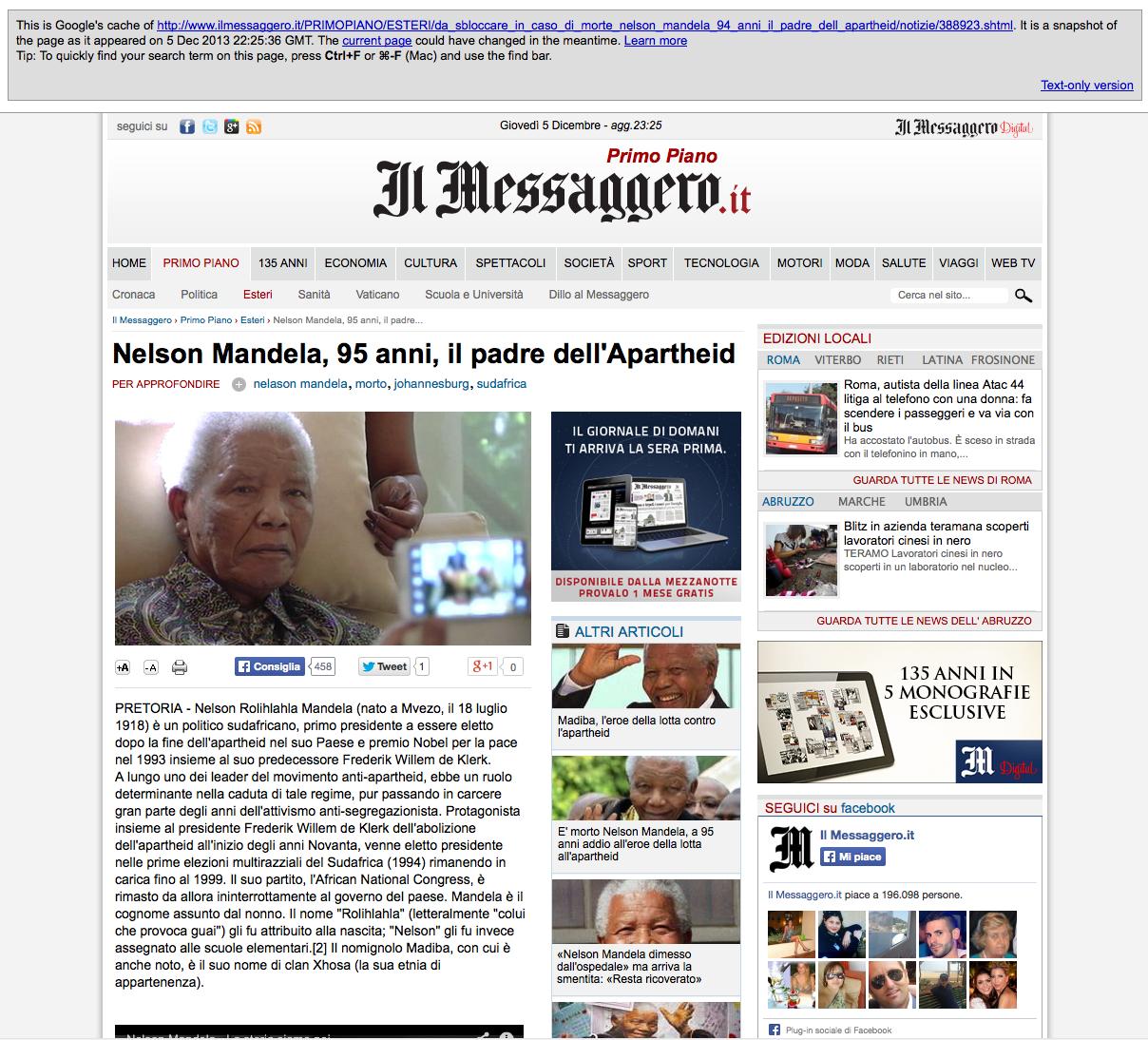 frasi famose mandela in italiano - Frasi di Nelson Mandela le migliori solo su Frasi Celebri it