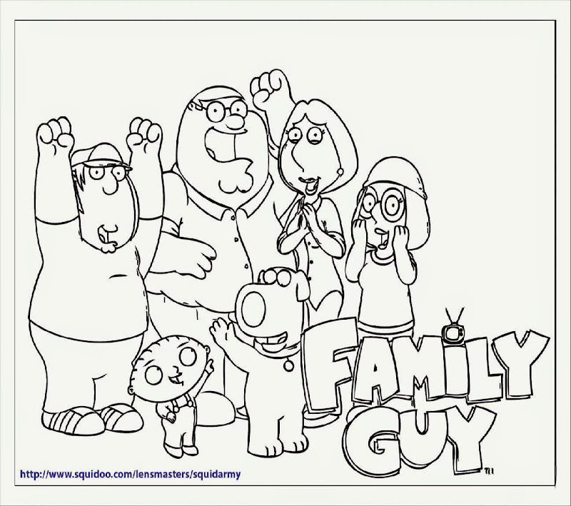 Stewie Family Guy Coloring Pages Family Guy Coloring Pages 4
